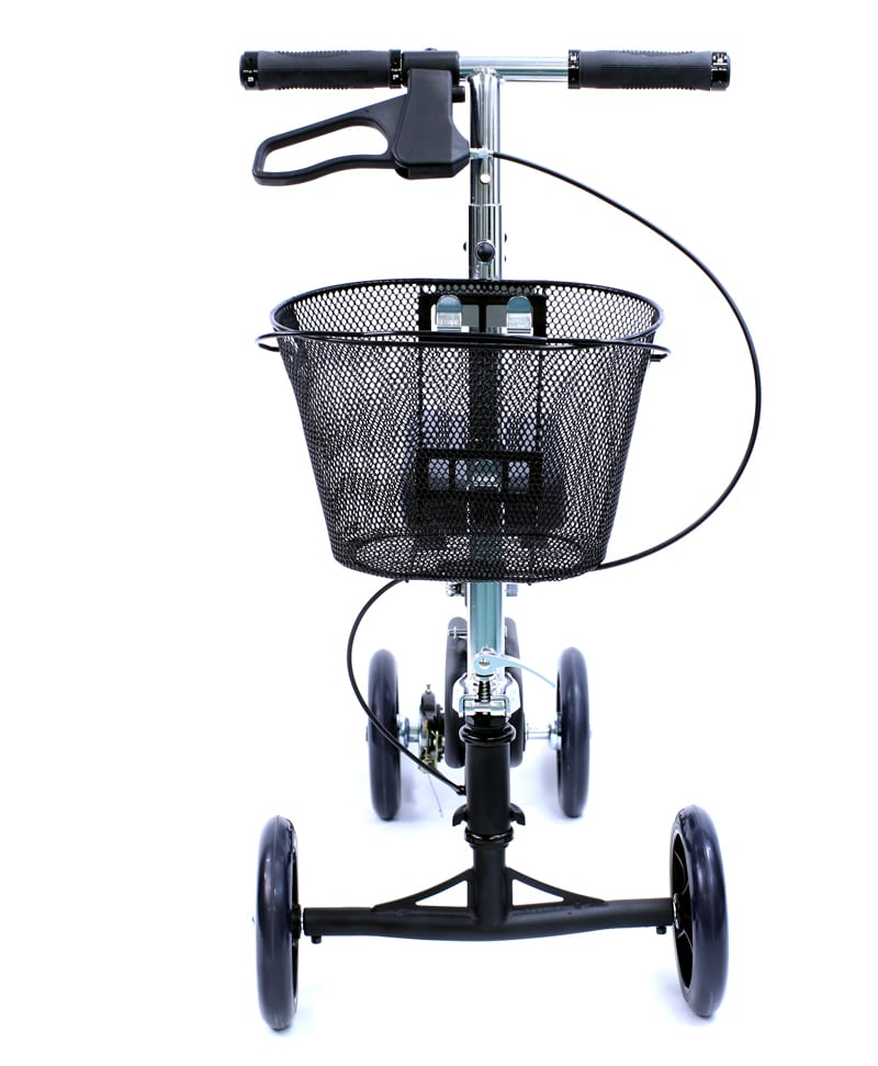 KW-100-BK-Front-View Knee Walker