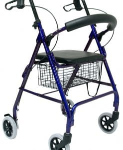 R-4600W Blue Rollator Main View