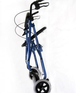 R-4608 Blue Rollator Side Folded