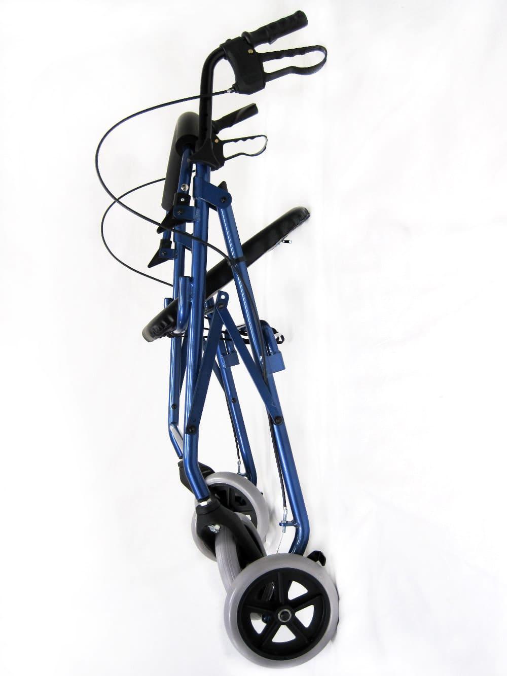 R-4608 Blue Rollator Side Folded