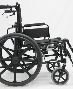 MVP 502 Folded Reclining Wheelchair side view