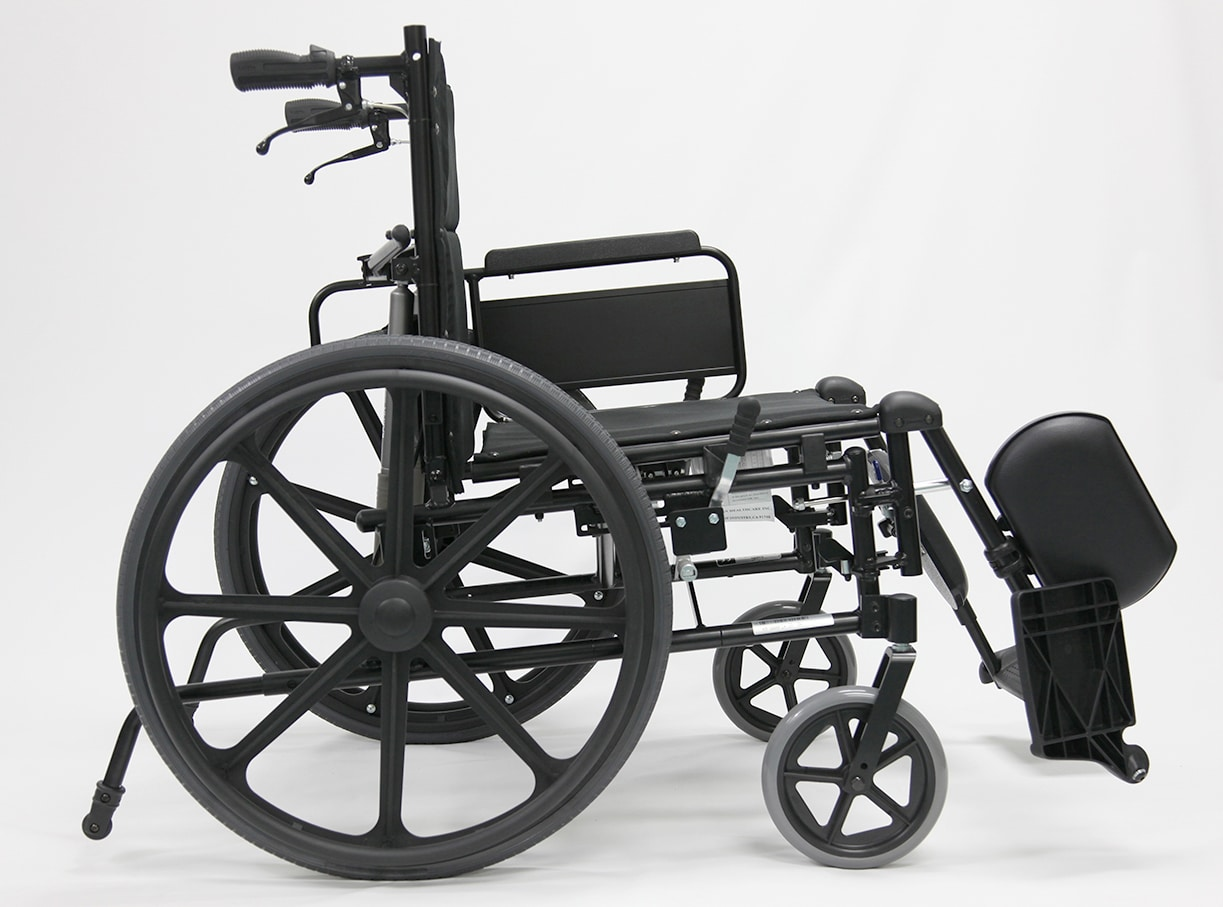 MVP 502 Folded Reclining Wheelchair side view