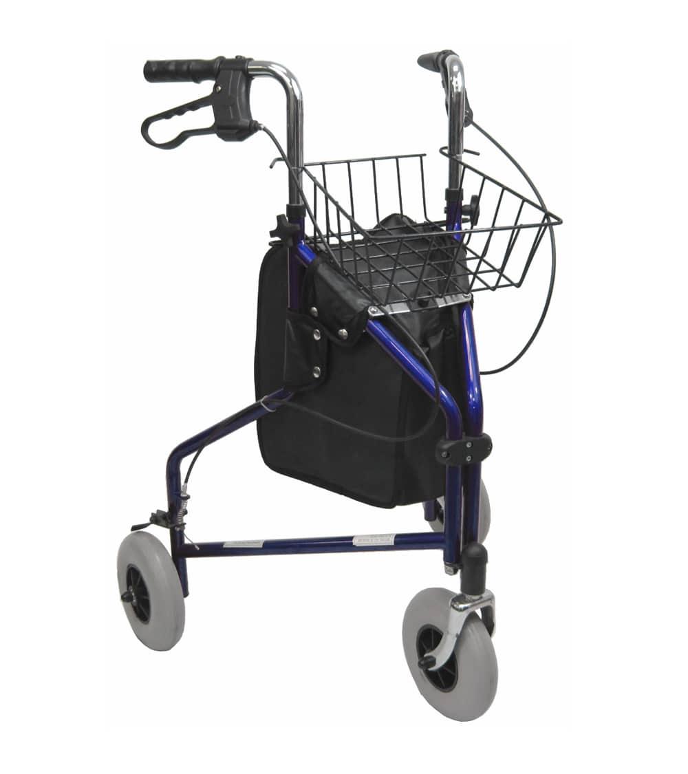3 Wheel Walker R 3600 3 Wheeled Rollator 8 Inch Wheels