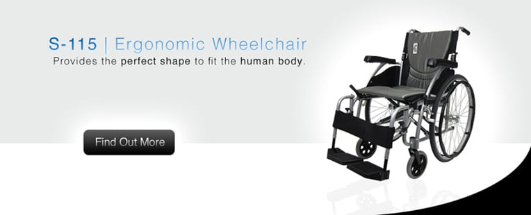 S-115 | Ergonomic Wheelchair | Provides the perfect shape to fit the human body.
