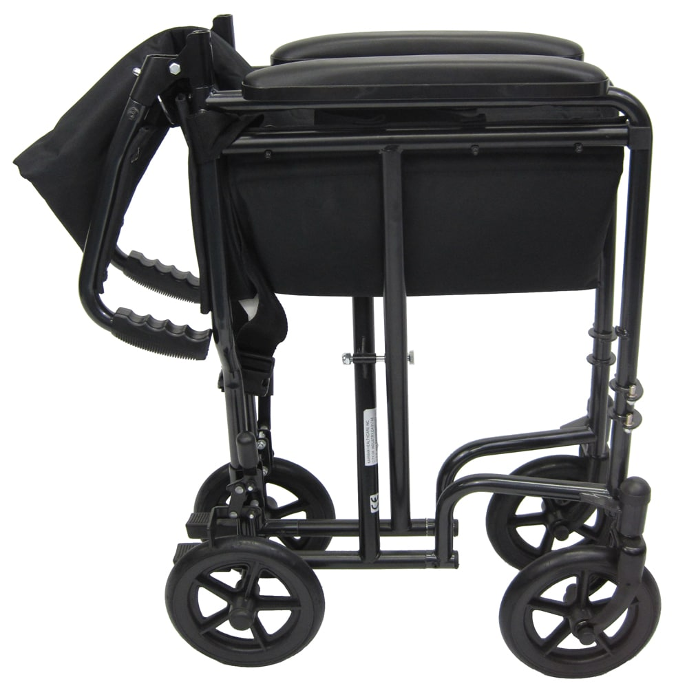 LT-2000 Wheelchair folded side view