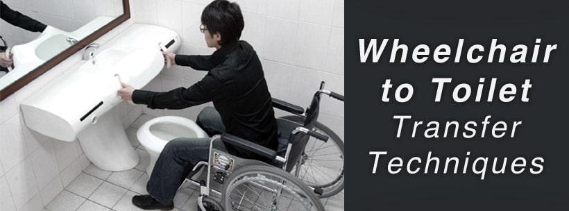 wheelchair to toilet transfer
