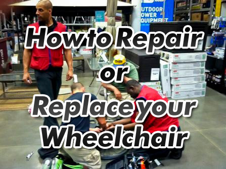 how to replace or repair your wheelchair