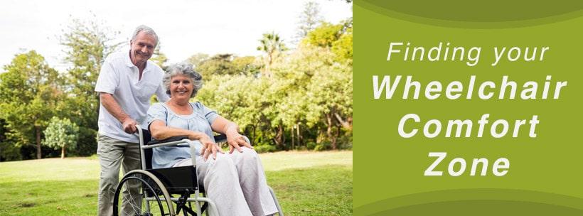 finding wheelchair comfort zone