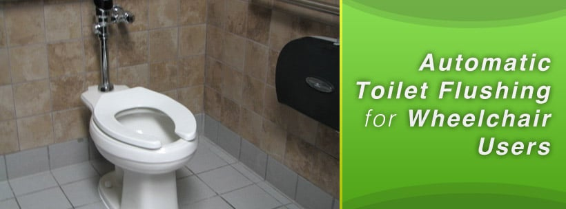 Automatic Toilet Flushing for Wheelchair Users