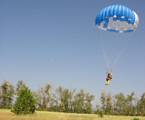Skydiving firefighter